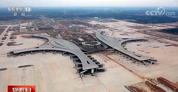 视频:四川天府机场航站楼具雏形 试飞即将展开